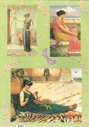 Декупажна хартия - Красавици 1861-1922 г. 080 - Дизайн на Anne Zada