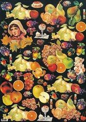 Декупажна хартия - Плодове 034 - Дизайн на Anne Zada