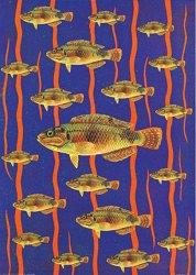 Декупажна хартия - Риби 049 - Дизайн на Anne Zada