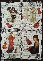 Декупажна хартия - Музика 059 - Дизайн на Anne Zada