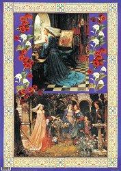 Декупажна хартия - Дами от Средновековието 061