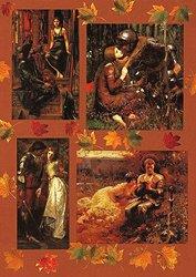 Декупажна хартия - Рицари и девици 082 - Дизайн на Anne Zada