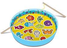Риболов с дървени рибки - Детска занимателна игра - играчка