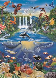 Декупажна хартия - Океан и джунгла 561 - Дизайн на David Knight