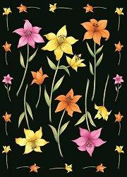 Декупажна хартия - Цветни лилии 215 - Дизайн на Janet Eadie