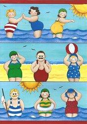 Декупажна хартия - Хора на плажа 218