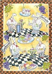 Декупажна хартия - Майстор готвач 665 - Дизайн на Mignon Clift