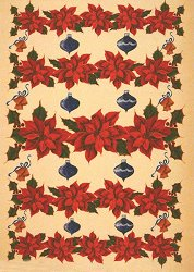 Декупажна хартия - Коледни звезди 323 - Дизайн на Karen Kiely