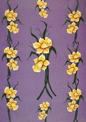 Декупажна хартия - Нарцис 326 - Дизайн на Karen Kiely