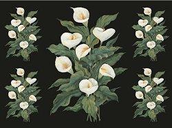 Декупажна хартия - Бели калии 631 - Дизайн на Raelene Stratfold