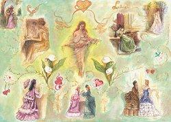 Декупажна хартия - Любовни писма 610 - Дизайн на Brenda V. Northeast