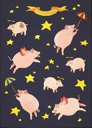 Декупажна хартия - Летящи прасенца 525 - Дизайн на Charlotte Hartmann