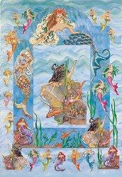 Декупажна хартия - Русалки в огледалото 612 - Дизайн на Anne Martin