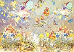 Декупажна хартия - Игрите на феите 100 - Дизайн на Nerida Singleton