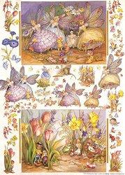 Декупажна хартия - Феите от моята градина 103 - Дизайн на Nerida Singleton