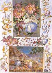 Декупажна хартия - Чаеното парти на принцесите феи 106 - Дизайн на Nerida Singleton
