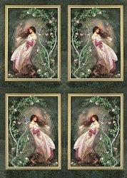 Декупажна хартия - Вятър в косите 114 - Дизайн на Nerida Singleton