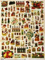 Декупажна хартия - Викторианска епоха 515 - Дизайн на Russell Leonard