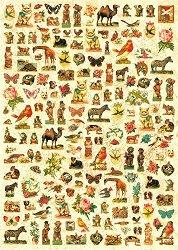 Декупажна хартия - Викториански птици и животни 516 - Дизайн на Russell Leonard