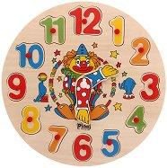 Клоун - Дървен пъзел - часовник - пъзел