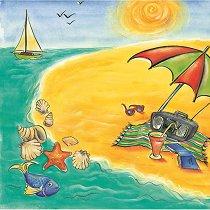 Хартия за скрапбукинг - Райски плаж SB21 - Дизайн на Mignon Clift