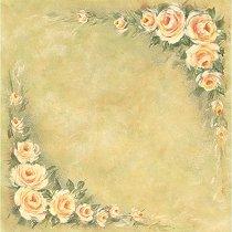 Хартия за скрапбукинг - Кремави рози SB25 - Дизайн на Mignon Clift