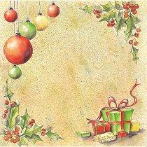 Хартия за скрапбукинг - Коледни подаръци и играчки SB30 - Дизайн на Mignon Clift