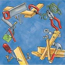 Хартия за скрапбукинг - За строителя SB35 - Дизайн на Mignon Clift