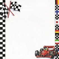 Хартия за скрапбукинг - Формула 1 SB46