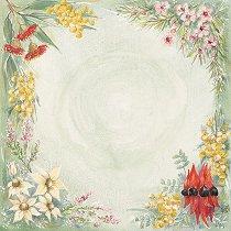 Хартия за скрапбукинг - Полски цвета SB48 - Дизайн на Mignon Clift