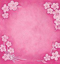 Хартия за скрапбукинг - Цветя в розово SB58 - Дизайн на Mignon Clift
