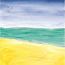 Хартия за скрапбукинг - Плаж през лятото SB61 - Дизайн на Mignon Clift