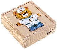 Облечи мечето - Дървена играчка - играчка
