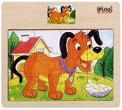 Кученце - Дървен пъзел - пъзел