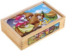 Дървени кубчета - Приказни герои - Образователна играчка - играчка