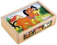 Дървени кубчета - Фермата - Образователна играчка - играчка