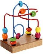 Лабиринт с топчета - Дървена играчка - творчески комплект