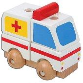 Линейка - Дървен конструктор - играчка