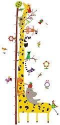 Ръстомер - Friends of the Amazon - Детски метър-стикер за измерване на височина от 40 cm до 160 cm -