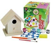 Декорирай сам - Къщичка за птици - Творчески комплет - играчка