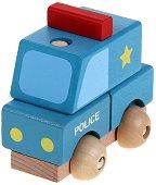 Полицейска кола - Дървен конструктор - количка