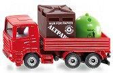 """Камион за превоз на кофи за боклук - Метална играчка от серията """"Super: Local community services"""" - играчка"""