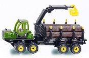 """Камион за превоз на дървени трупи - John Deere - Метална играчка от серията """"Super: Agriculture"""" - количка"""