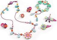 Детски бижута - Райски цветя - Комплект с дървени мъниста - играчка