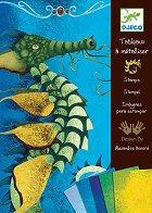 Оцветявай с цветно фолио - Дракони - Творчески комплект - играчка