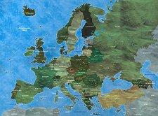 Европа - Пъзел с части в нестандартна форма -