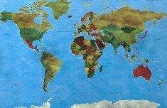 Светът - Пъзел с части в нестандартна форма -