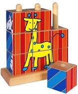 Животни - дървени кубчета за нареждане - портмоне