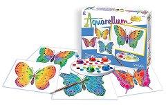 Оцветявай с акварелни бои - Пеперуди - Творчески комплект за рисуване - продукт