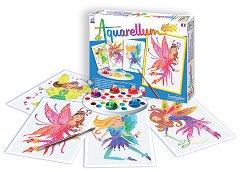 Оцветявай с акварелни бои - Феи - Творчески комплект за рисуване - играчка